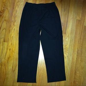 Ming Wang Pants Black Knit pull on size Large